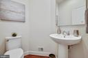Half bath on main level - 8319 LOOKING GLASS WAY, FAIRFAX