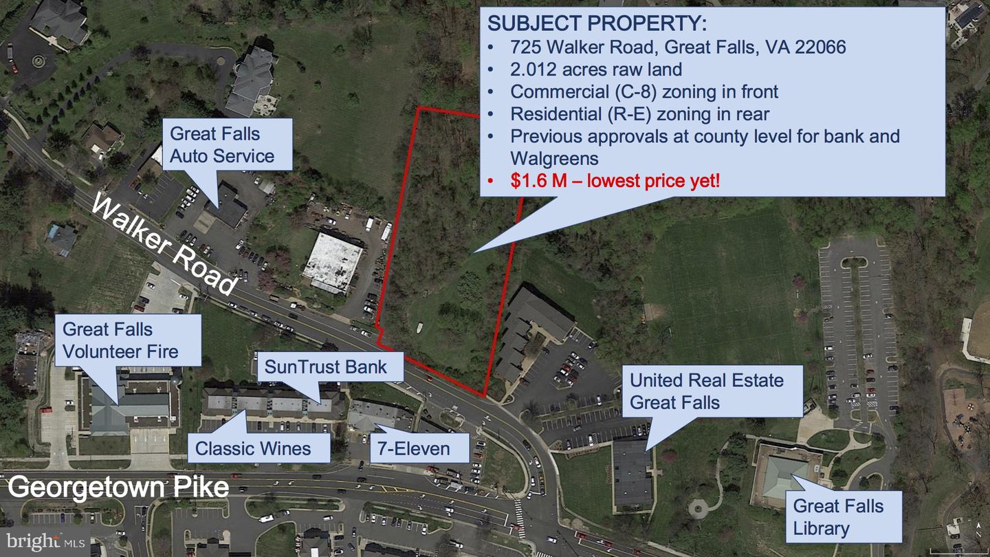 Land for Sale at 725 Walker Rd Great Falls, Virginia 22066 United States