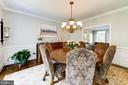 Formal dining room with chair rail - 9496 LYNNHALL PL, ALEXANDRIA