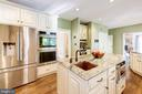 Kitchen with high end custom cabinetry and 2 sinks - 9496 LYNNHALL PL, ALEXANDRIA