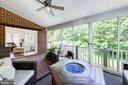 Huge screened porch  used year round - 9496 LYNNHALL PL, ALEXANDRIA