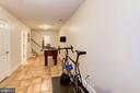 Lower level garage entrance - 9496 LYNNHALL PL, ALEXANDRIA
