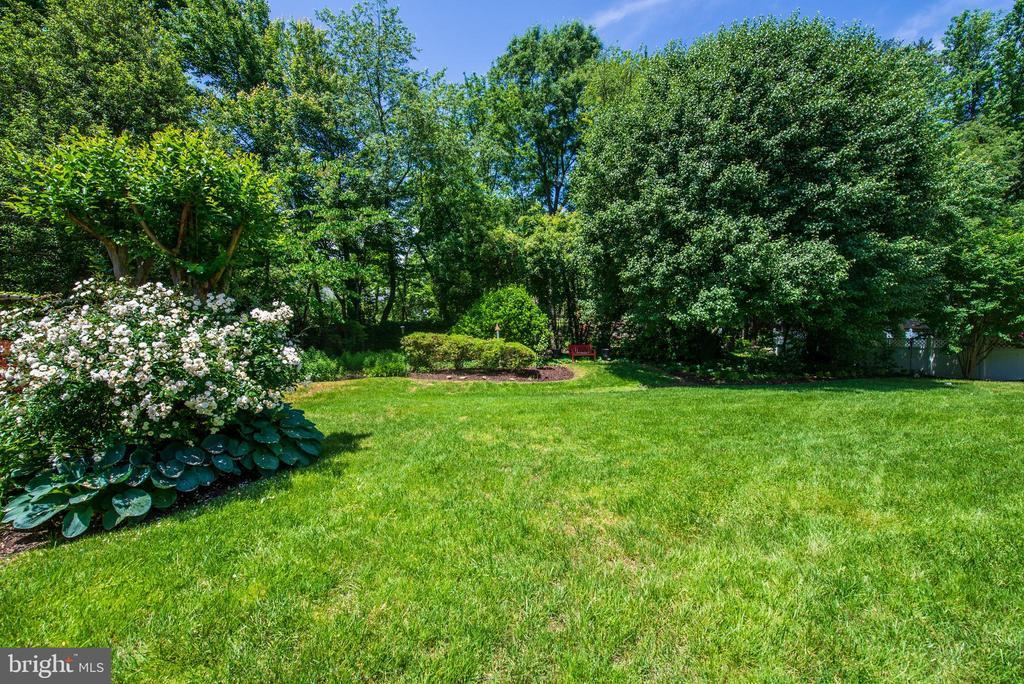Lush Backyard - 9496 LYNNHALL PL, ALEXANDRIA