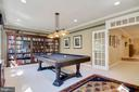 Game/ Billiard Room in Basement - 1641 WHITE PINE DR, VIENNA