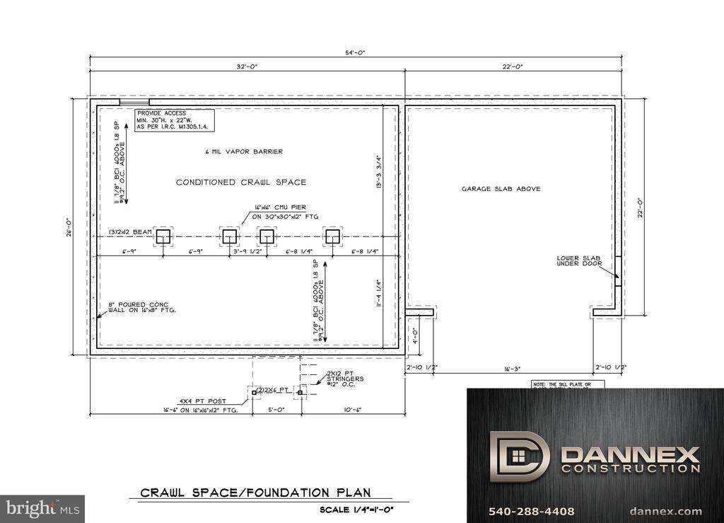 crawl space - 11615 RIVER MEADOWS WAY, FREDERICKSBURG