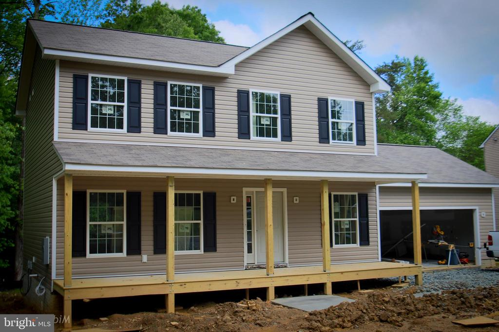 front picture with full front porch, construction - 11615 RIVER MEADOWS WAY, FREDERICKSBURG
