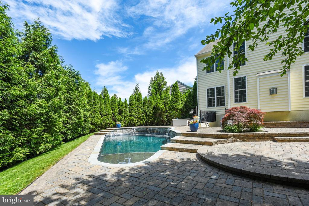 Professionally landscaped for privacy - 43860 PINEY STREAM CT, CHANTILLY