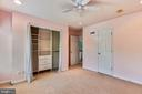 Bedroom #2 with Custom Closet Shelving - 43860 PINEY STREAM CT, CHANTILLY