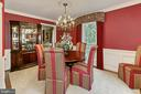 Dinning room with wainscoting and crown molding - 8317 CATHEDRAL FOREST DR, FAIRFAX STATION