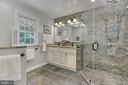 En suite bath with dual sink in Master - 8317 CATHEDRAL FOREST DR, FAIRFAX STATION