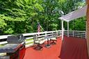 Sundeck off first floor master bedroom - 8317 CATHEDRAL FOREST DR, FAIRFAX STATION