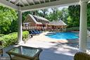 Gazebo with view of pool - 8317 CATHEDRAL FOREST DR, FAIRFAX STATION