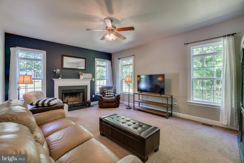 Fireplace in Family Room - 2714 BROOKE RD, STAFFORD