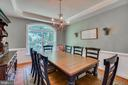 Tray Ceiling in Formal Dining Room - 2714 BROOKE RD, STAFFORD