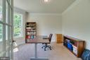 Crown Molding & French Door in Office - 2714 BROOKE RD, STAFFORD