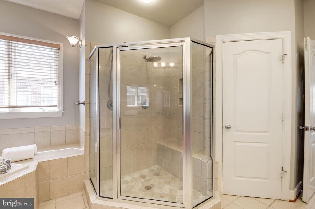 master shower - 22978 LOIS LN, BRAMBLETON