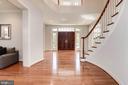 Stately  wood door entry & gleaming wood floors - 22978 LOIS LN, BRAMBLETON