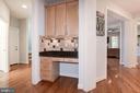 Work nook in kitchen - 22978 LOIS LN, BRAMBLETON