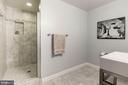 Lower level full bath - 22978 LOIS LN, BRAMBLETON