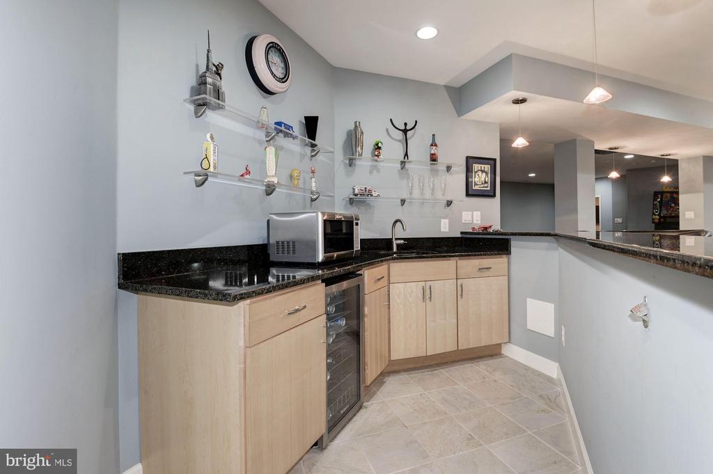 Complete with sink and wine fridge - 22978 LOIS LN, BRAMBLETON