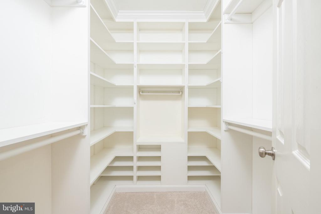 Custom Closet in Master Bedroom - 1978 LOGAN MANOR DR, RESTON
