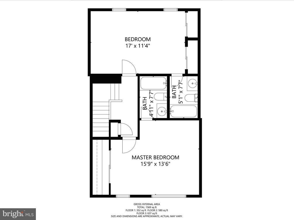 Upper Floor Plan - 12706 PERCHANCE TER, WOODBRIDGE