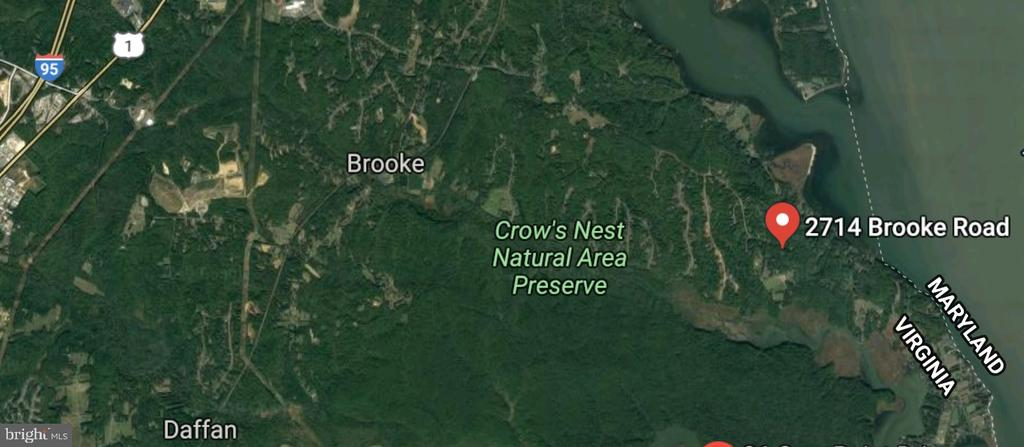 Satellite View of the area - 2714 BROOKE RD, STAFFORD
