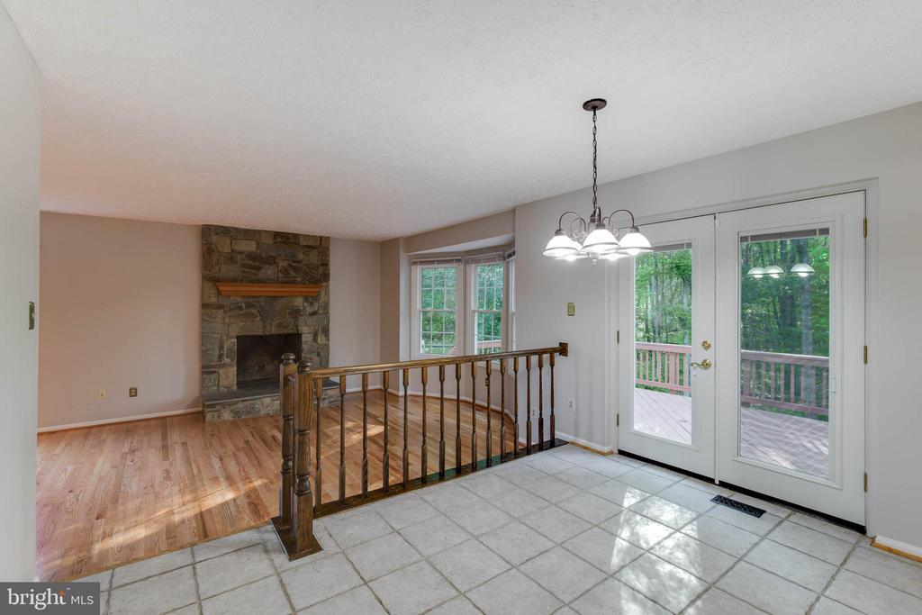 Open Floor Plan, Kitchen Opens to Family Room - 2332 CLUB POND LN, RESTON