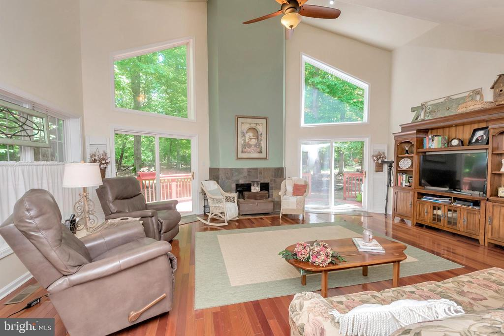 Soaring ceilings and cozy fireplace to enjoy - 119 MONTICELLO CIR, LOCUST GROVE