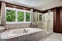 Soaking Tub, Glass Shower - 11096 WHITSTONE PL, RESTON