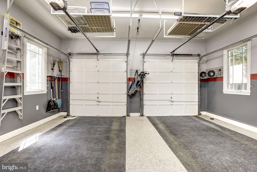 2 Car Garage- Epoxy Floor, Shelves for Storage - 11096 WHITSTONE PL, RESTON