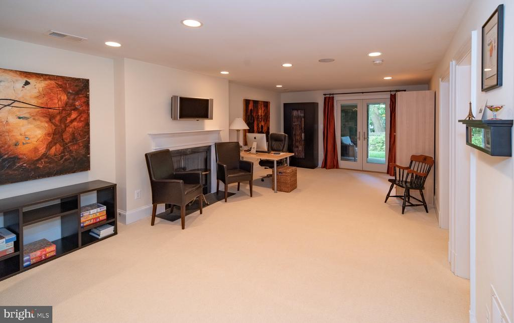 Recreation room with gas fireplace - 3606 N VERNON ST, ARLINGTON