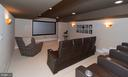 Lower level home theatre - 3606 N VERNON ST, ARLINGTON