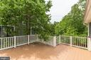 Large deck, backs to trees - 7630 LISLE AVE, FALLS CHURCH