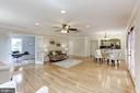 Huge living/dining space - 7630 LISLE AVE, FALLS CHURCH