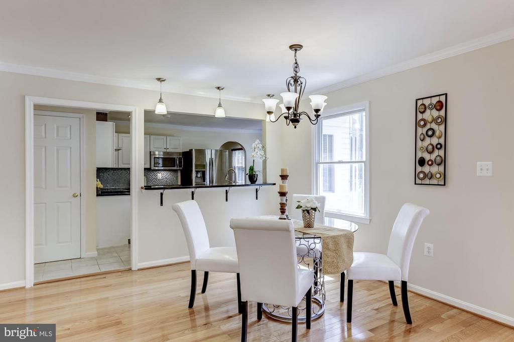 Dining open to kitchen - 7630 LISLE AVE, FALLS CHURCH