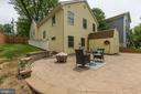 Huge patio, perfect for entertaining - 7630 LISLE AVE, FALLS CHURCH