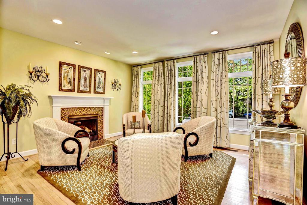 Formal Living Room w/ Gas Fireplace - 11096 WHITSTONE PL, RESTON