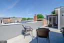 Roof top deck - private or guest access doors. - 1412 SHEPHERD ST NW #2, WASHINGTON