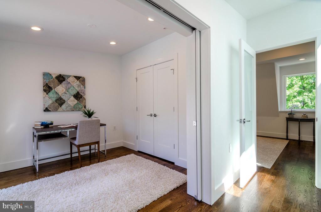 Pocket doors! - 1412 SHEPHERD ST NW #2, WASHINGTON