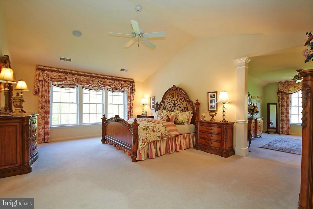 Master suite on upper level overlooks woods - 32315 DEEP MEADOW LN, LOCUST GROVE