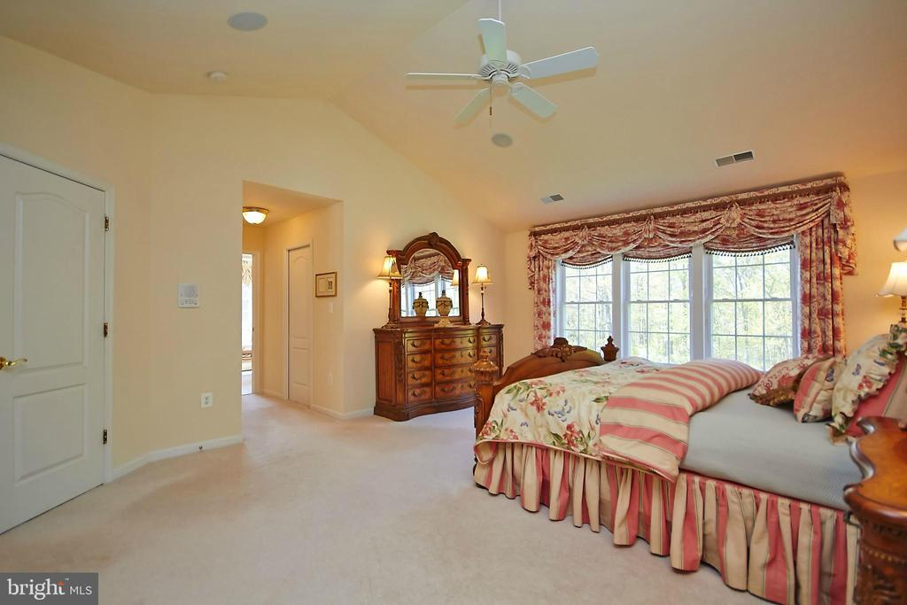 Vaulted ceiling in master bedroom - 32315 DEEP MEADOW LN, LOCUST GROVE