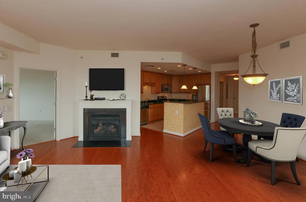 Bright, open floor plan - 1830 FOUNTAIN DR #1001, RESTON