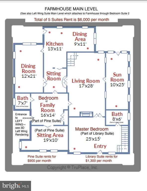 Farmhouse Mail Level Floor Plan - 13830-13826 CASTLE CLIFF WAY, SILVER SPRING