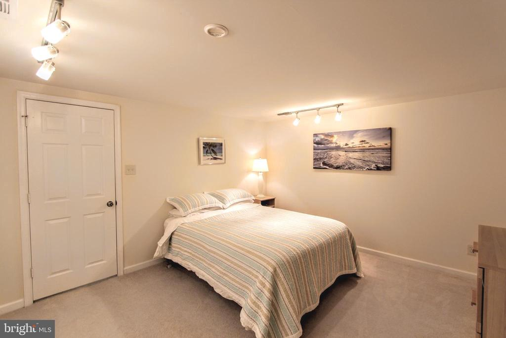 Lower level guest bedroom - 100 JAMES DR SW, VIENNA