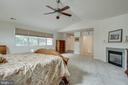 Master Bedroom with gas fireplace - 3465 LOGSTONE DR, TRIANGLE
