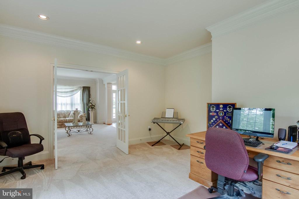 Office with French Doors - 3465 LOGSTONE DR, TRIANGLE