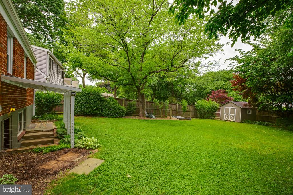 Large backyard - 4007 SPRUELL DR, KENSINGTON