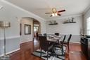 Formal Dining room with hardwoods - 18605 KERILL RD, TRIANGLE