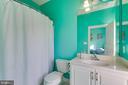 Private bath in bedroom 1 - 18605 KERILL RD, TRIANGLE